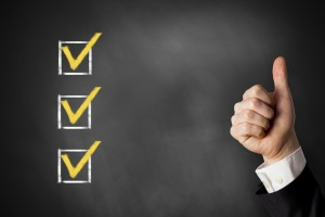checklist on chalkboard site