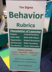 Behavior Rubric Banner at CEC 2015