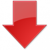 red arrow down png