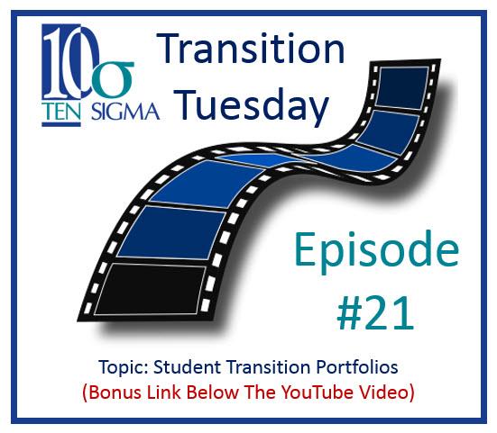 Transition Tuesday Episode 21 Student Transition Portfolios