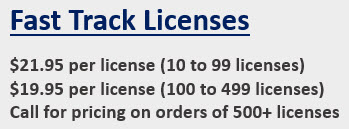 Fast track license pricing
