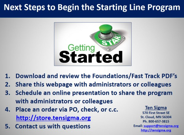 Starting Line Next Steps