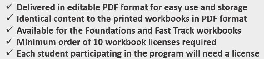 Starting Line PDF License bullet info 2