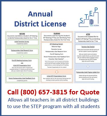 STEP program annual district license mailing